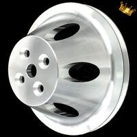 Billet big block Chevy water pump pulley single groove short WP 396 427 454