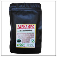 BEST SELLING ALPHA 50% GPC 300mg CAPSULES – COGNITION, FOCUS, ENERGY, GOVITAMINS