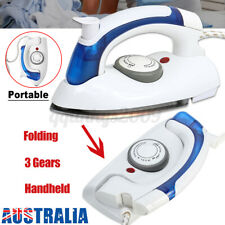 Folding Mini Travel Steam Iron Portable Compact Handheld Clothes Steamer Dry AU