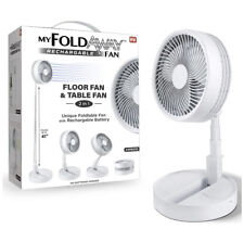 MY FOLDAWAY FAN Rechargeable Ultra Lightweight Portable Compact Floor & Table