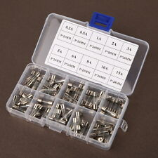 100 Stück 5x20mm Feinsicherung Rohr Sicherung Glasrohr Sicherung 0.2A ~ 15A