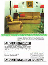 PUBLICITE ADVERTISING 094  1966  JACQUES ANTONOS canapés fauteuils salon PRESTIG