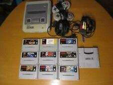 SNES Konsole + 9 Spiele + Super Game Boy + 2 Controller+Kabel