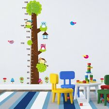 nursery Animal Monkey Owl Kids Room PVC Wall Stickers height of the wall sticker