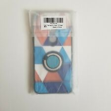 Blue Orange Triangle Soft Slim Phone Case Cover for Nokia 7.1 with Ring Holder
