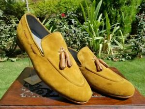 Loafers Elegant Suede Light Brown Handmade and shoes for