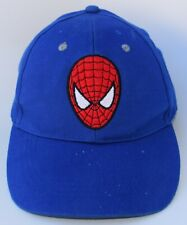 Spider-Man Marvel KIDS Baseball Cap Hat One Size Strapback 100% Cotton Blue