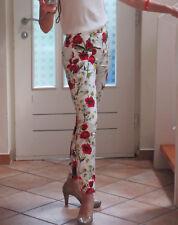 Neu Dolce & Gabbana Hose, Mohnblüten/ Margariten, Größe 34, UVP 480,-