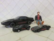 Vintage Knight Rider Lot Knight 2000 Car + mini diecast + Michael Knight fig