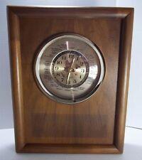 Vintage Lord King Quartz World Analog Clock Wood Gold Color Accent Desk Mantle