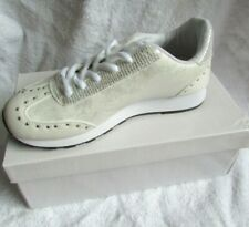 NEW WHITE/SILVER SHIMMER STUD DETAIL TRAINERS/SNEAKERS SIZE 3/36 OLDER GIRLS/LAD