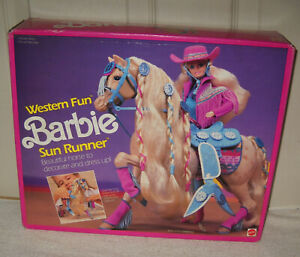 #11261 NRFB Vintage Mattel Western Fun Barbie Sun Runner Horse