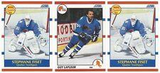 13 1990-91 SCORE HOCKEY QUEBEC NORDIQUES CARDS (FISET RC/LAFLEUR+++)