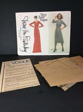 Vogue Sewing Pattern 1729 Diane Von Furstenberg 10 Fit Flare Dress Knit DVF