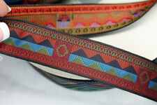 Woven Trim Native Red Mountains 1 1/8 inch wide by the yard