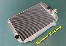 56mm aluminum radiator for Chevy hot/street rod 350 V8 W/Tranny Cooler 1939