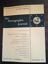 NOV 1968 THE PHOTOGRAPHIC JOURNAL (ROYAL PHOTOGRAPHIC SOCIETY OF GREAT BRITAIN)