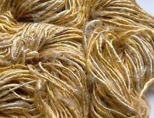 Sari de seda hilo de Lujo, Oro Beige, 100g/crochet/tejido de punto./textiles