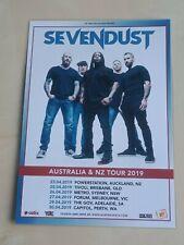 SEVENDUST - 2019 AUSTRALIA TOUR -  LAMINATED PROMO TOUR POSTER - NEW!