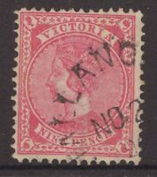 Victoria unframed postmark on 9d QV stamp