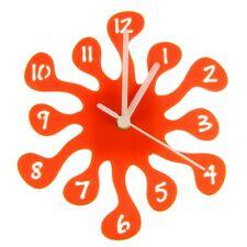 Euphyllia-Splash Mini Childrens Wall Clock 20cm Orange (e9557org)