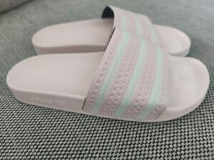 Adidas Damen Adilette 42 UK 8 Rosa Neu Badelatschen Originals Freizeit Schuhe