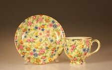 """Royal Winton """"Kew"""" Chintz Albans Shape Cup and Saucer, England"""
