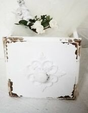 CASSETTO LEGNO BIANCO SCATOLA pflanzschublade SHABBY Cottage in stile