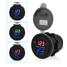5V 2.1A USB Ports Car charger Voltage and current display Waterproof Charging