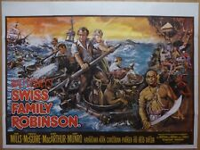 SWISS FAMILY ROBINSON (1960)RR - original UK quad film/movie poster, Walt Disney