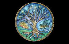 Stampa incorniciata-WICCA TREE OF LIFE (PICTURE wicca strega magia occulto INCANTESIMO ART)