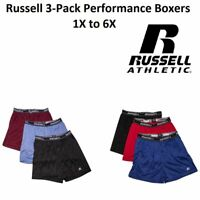 Russell Performance Mens Big and Tall Boxer Underwear (3 Pack) 1X 2X 3X 4X 5X 6X