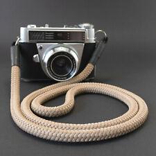 Kameragurt beige 100 cm - Kamera Seil Kameraband Tragegurt für DSLR