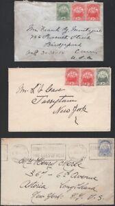 BERMUDA, 1923-34.  Covers-Card, Hamilton (9)