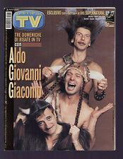 SORRISI 47/1999 GINO STRADA ALDO GIOVANNI GIACOMO JOVANOTTI ZECCHINO D'ORO 883
