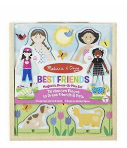 Melissa & Doug Best Friends Magnetic Dress-Up Wooden Dolls Pretend Play (78 pcs)