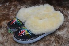 1e014dfa9 womens ladies natural leather sheepskin slippers moccasins size 2-7