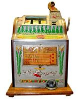 Antique Mills 5 cent Operators Bell Art Deco Gooseneck Slot Machine,  c.1925