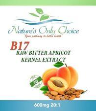 100% Organic Vitamin B17 600mg Natural Apricot Kernels Seeds Extract Pure USA
