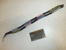 "Suzuki Makita Rockstar Lanyard 18"" Key Rope Clip Black Genuine Team Tag"