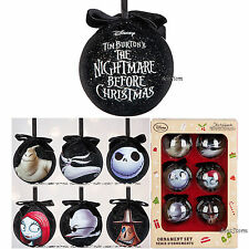 2016 The Nightmare Before Christmas Sketchbook Ornament 6 Set Disney Store Boxed
