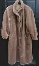 Nordstrom Womens Reversible Fur Coat Canadian Crush Size L Camel Marvin Richards