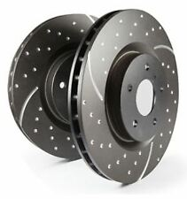 GD1549 EBC Turbo Grooved Brake Discs Front (PAIR) for FORD LAND ROVER VOLVO