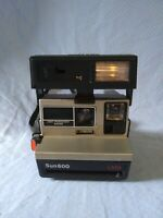 Vintage Polaroid sun 600 LMS Instant Camera black MISSING PIECE