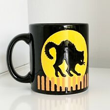 Waechtersbach Coffee Cup Black Cat Full Moon Coffee Mug Tea Cup 12 oz Halloween
