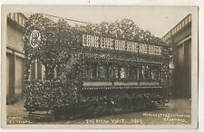 RPPC The Royal Visit 1909 Trolley Manchester Corp Float Real Photo Postcard