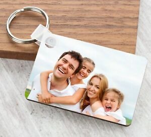 Personalised Keyring Photo Picture Fathers Mother Day Gifts Keychain Mum Grandma