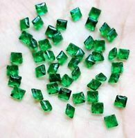 4PCS Top GREEN Natural EMERALD Square Cut UNHEATED COLOMBIAN LOOSE GEMSTONES