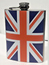Hip Flask 8oz Stainless Steel or Union Jack Christmas Gift Camping Party UK