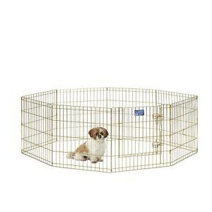 corral panel perros pequeños mascotas jaula 8 paneles conectados alambre seguro